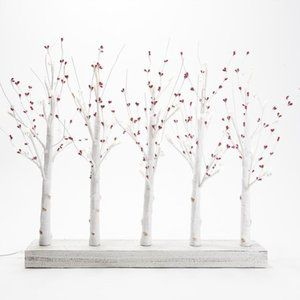 Illuminated Pip Berry Branch Centerpiece